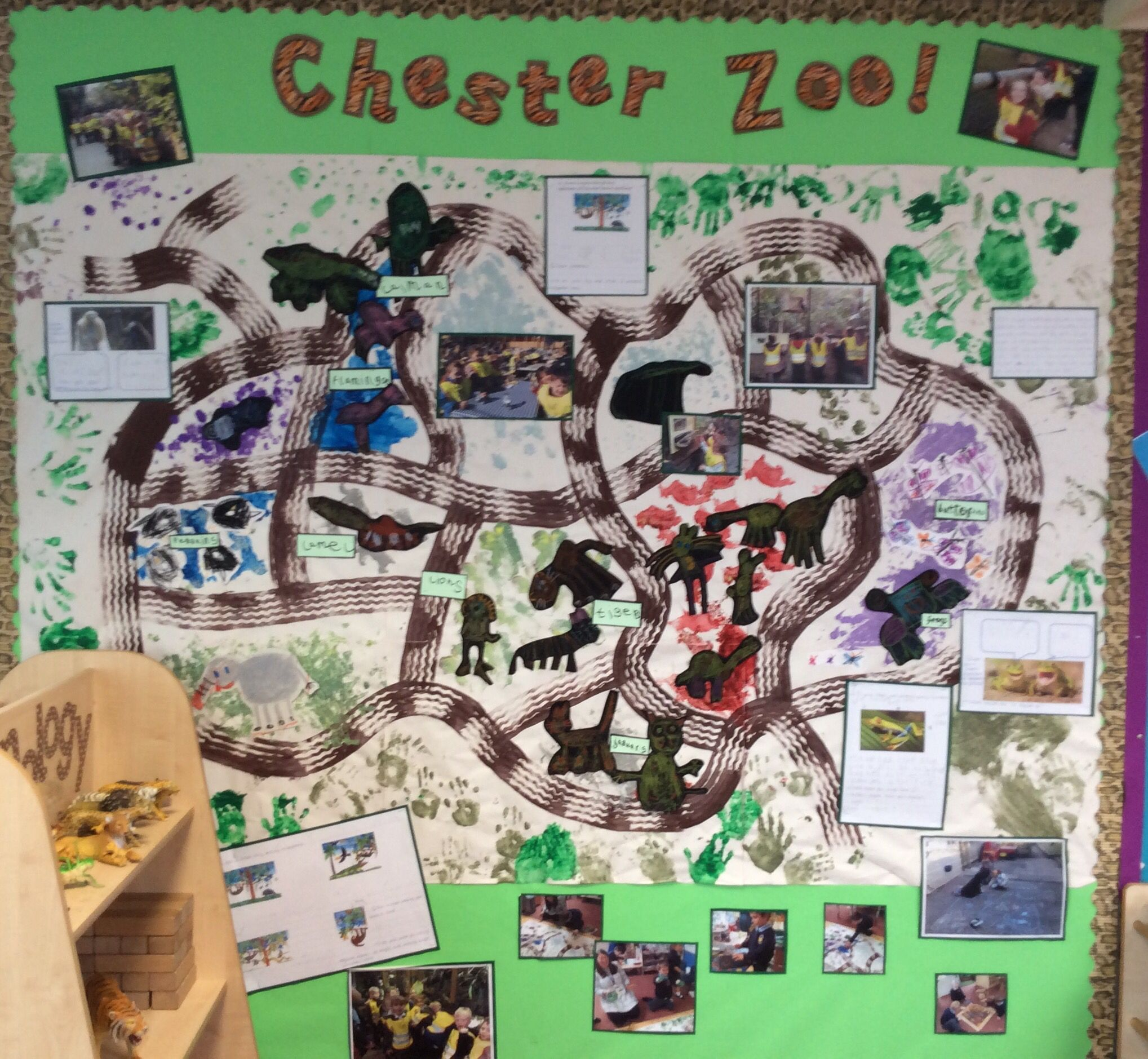 Chester Zoo Map Display With Different Types Of Writing Still Needs Signposts Wall For