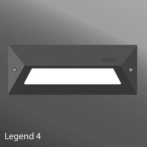 Ligman Lighting Legend A Range Of Vandal Resistant Rectangular Wall Recessed Luminaires Suitable For Indoor Or Outdoor Appl Step Lighting Led Lights Light