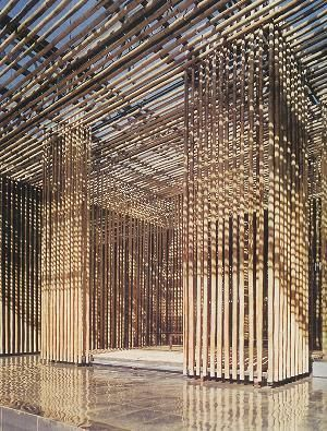 bamboo wall great bamboo wall village soho badaling north china 2001 2003 kengo kuma. Black Bedroom Furniture Sets. Home Design Ideas