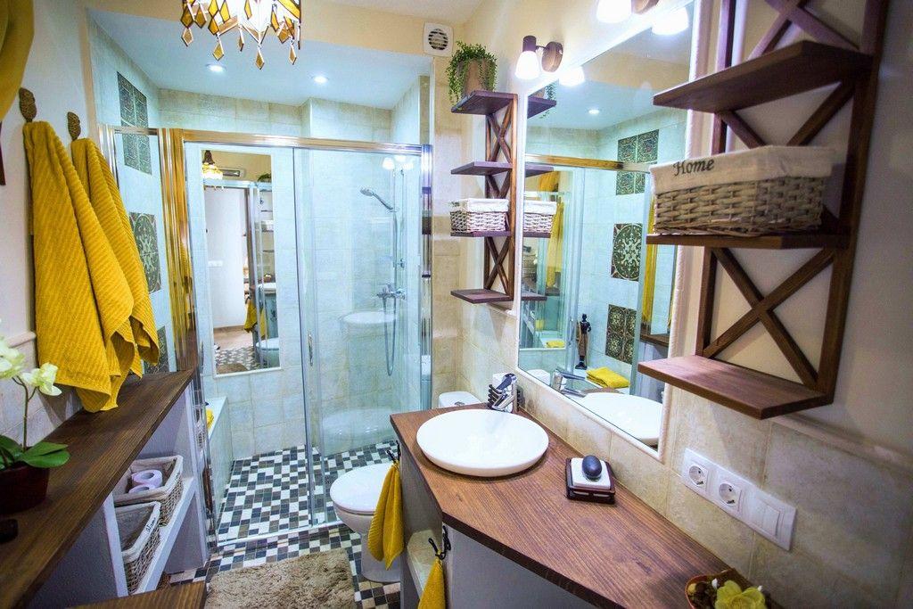 schlafzimmer und wohnzimmer kombinieren Wood shelves
