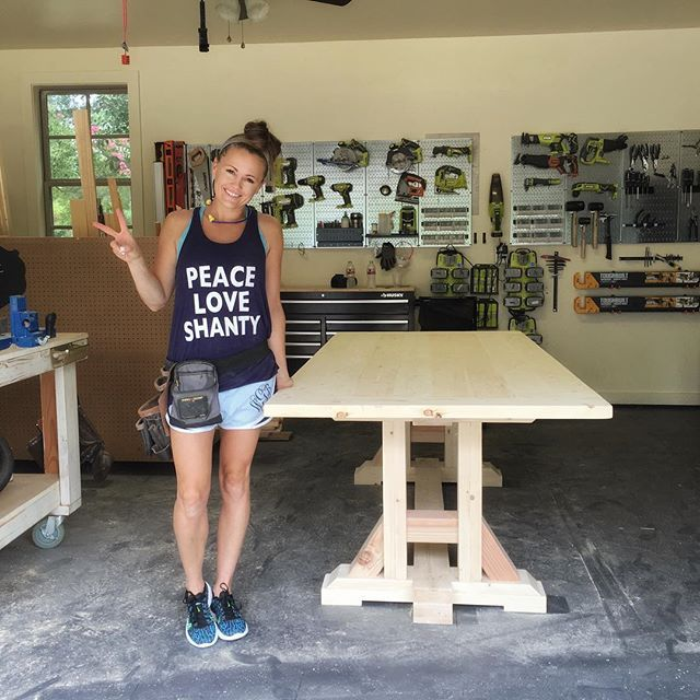 DIY Pottery Barn Inspired Dining Table for $100