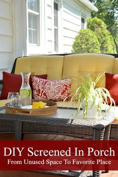 Diy screened in porch our bug free sanctuary pinterest porch how to screen in a porch by yourself solutioingenieria Image collections