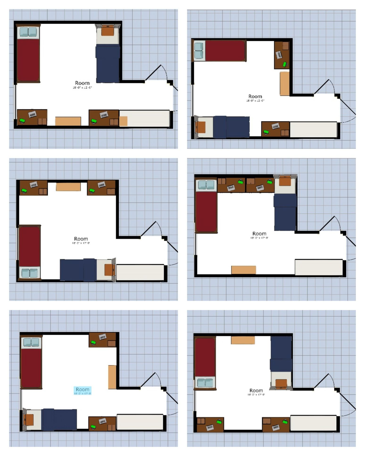 Nmu Dorm Layout Ideas I Personally Like 1 2 And 5