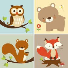 picture about Free Printable Woodland Animal Templates titled Picture consequence for free of charge printable forest animal silhouettes