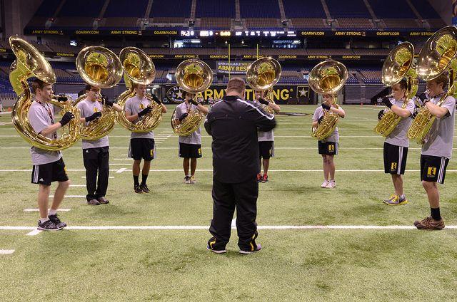 U S Army All American Band Clinic High School Football