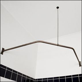 ANGLE CORNER SHOWER CURTAIN ROD