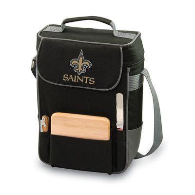 Picnic Time Digital Print Duet Wine Cooler Team: New Orleans Saints, Color: Black