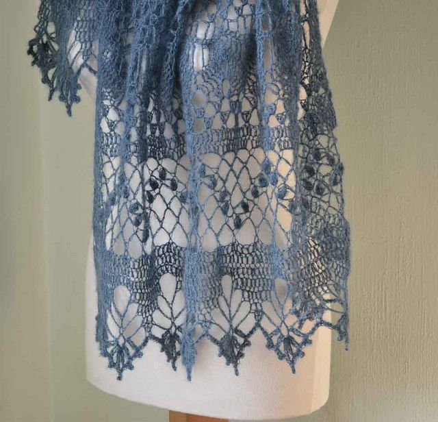 Lace crochet shawl by BernioliesDesigns, via Flickr..pattern for purchase