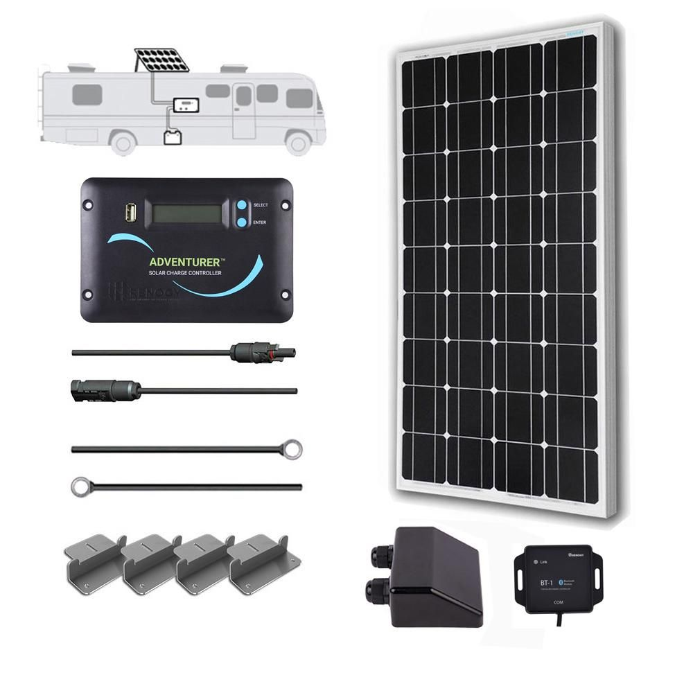 Renogy 100 Watt 12 Volt Off Grid Solar System For Solar Rv Kit Off Grid Solar Solar Panel Kits Best Solar Panels