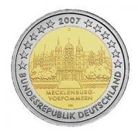 Duitsland Bijzondere 2 Euromunten Duitsland 2 Euro 2007 Schloss