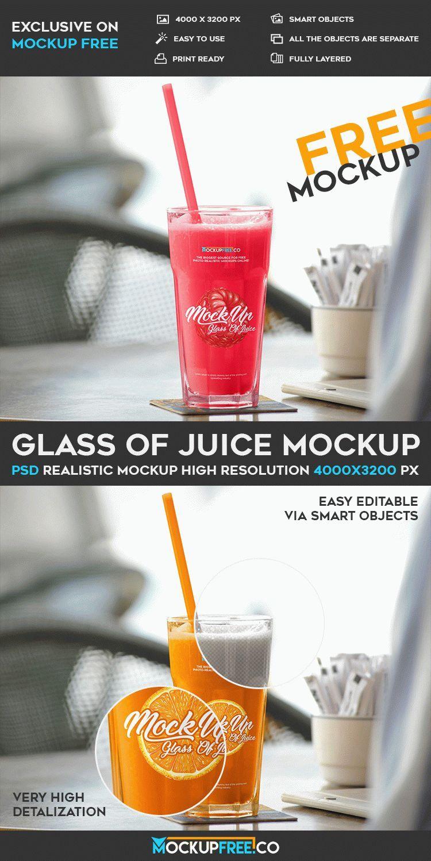 3ea41ff159f Free Glass Of Juice PSD Mockup