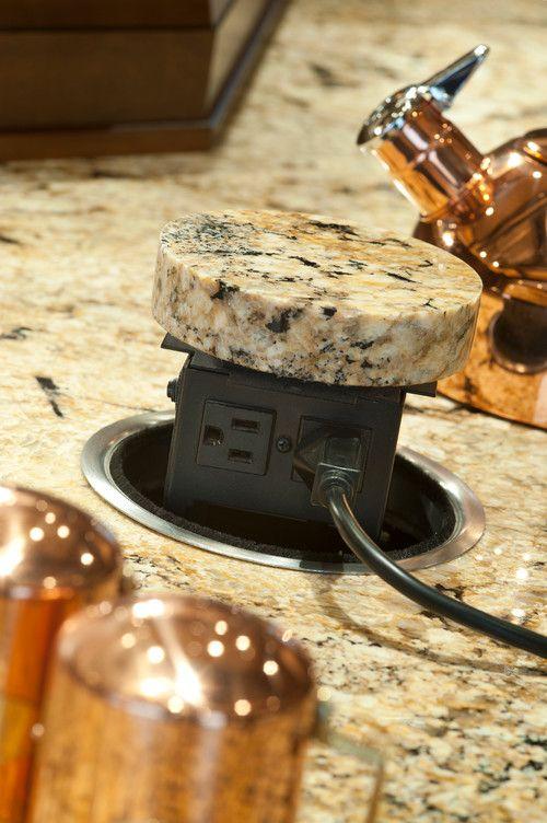 Pop Up Electrical Outlet In Granite Pop Up Outlets Kitchen