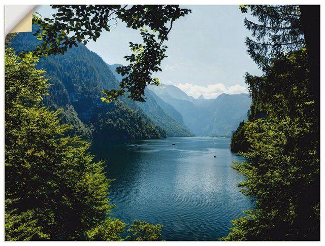 Artland Wandfolie »UtArt: Malerwinkel Königssee- Alpen« online kaufen | OTTO #naturallandmarks