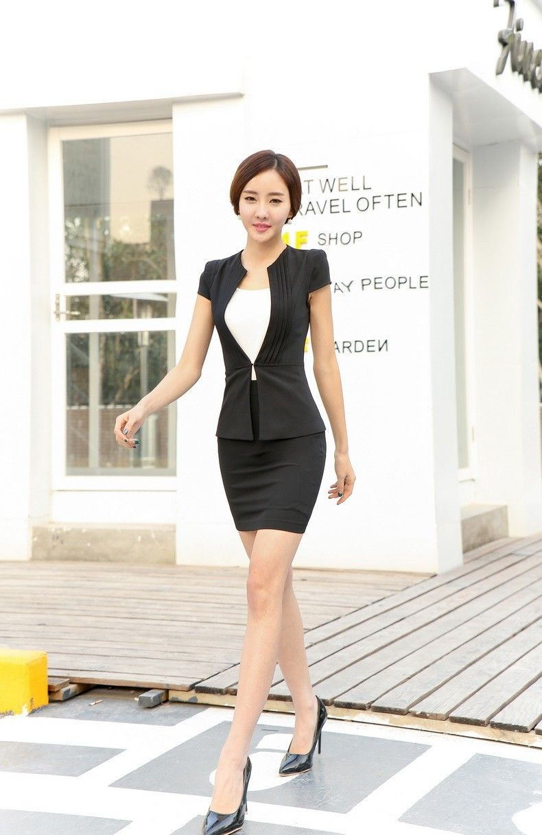 Summer Ladies Office Uniform Designs Women Business Suits Formal