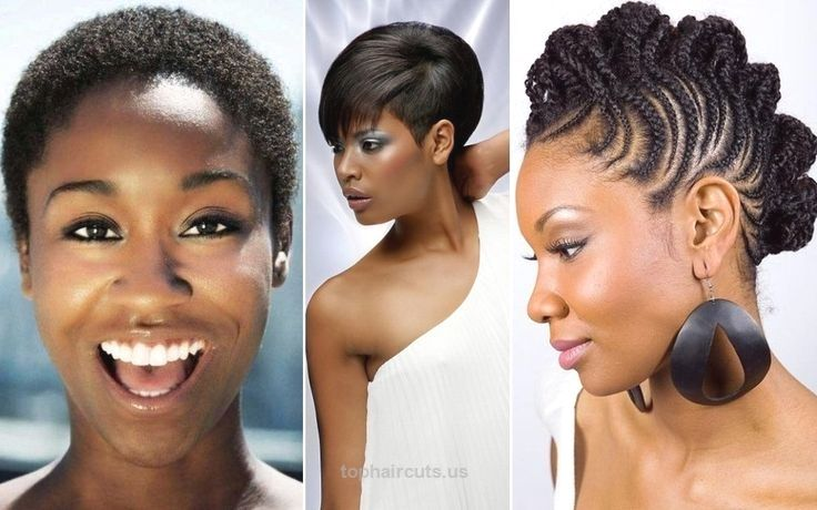 Black Short Hairstyles For Oval Faces Pretty Haircuts Black