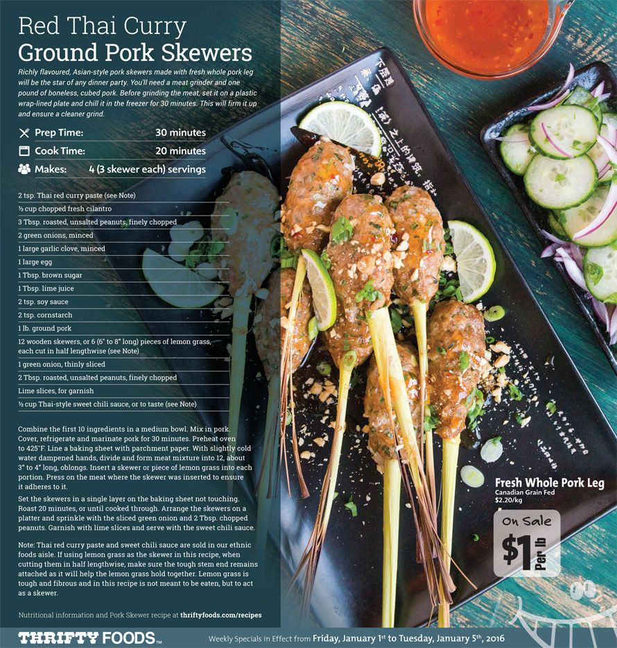 Thrifty Foods Weekly Insert Specials (pg. 4) Pork