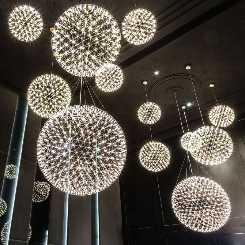 Unique LED Modern Pendant Lights Fixture Fireworks Pendant Lamps Star Ball Droplight Home Indoor Lighting Hotel Pub Photo - New indoor lighting Amazing