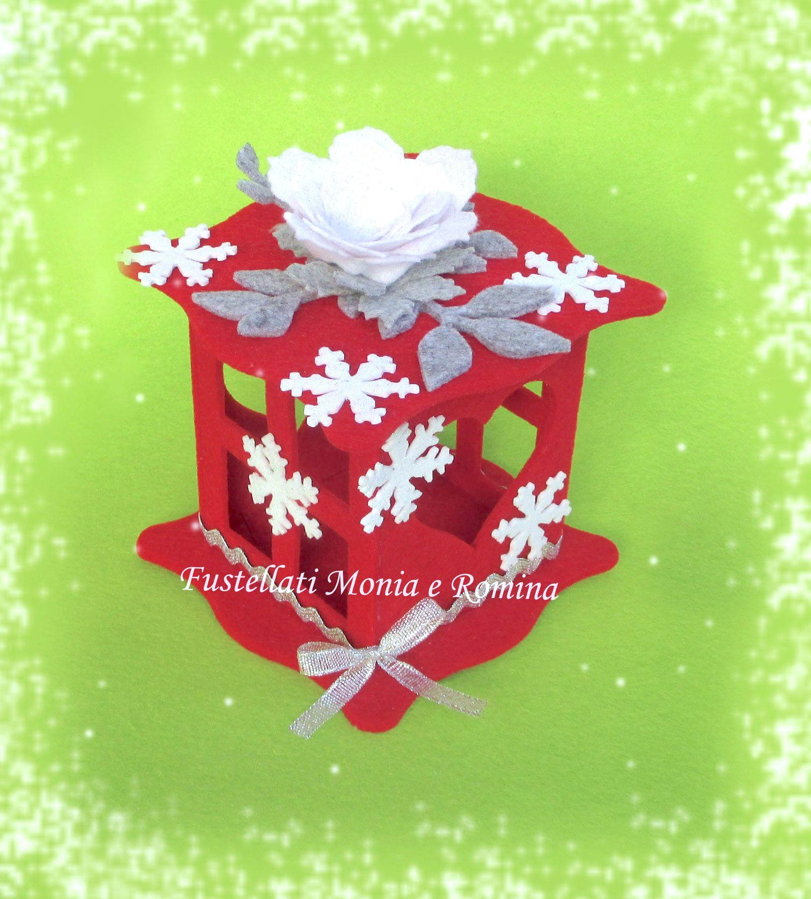 Fustellati Sagoma Lanterna Natale Feltro 3d Kit Fai Da Te