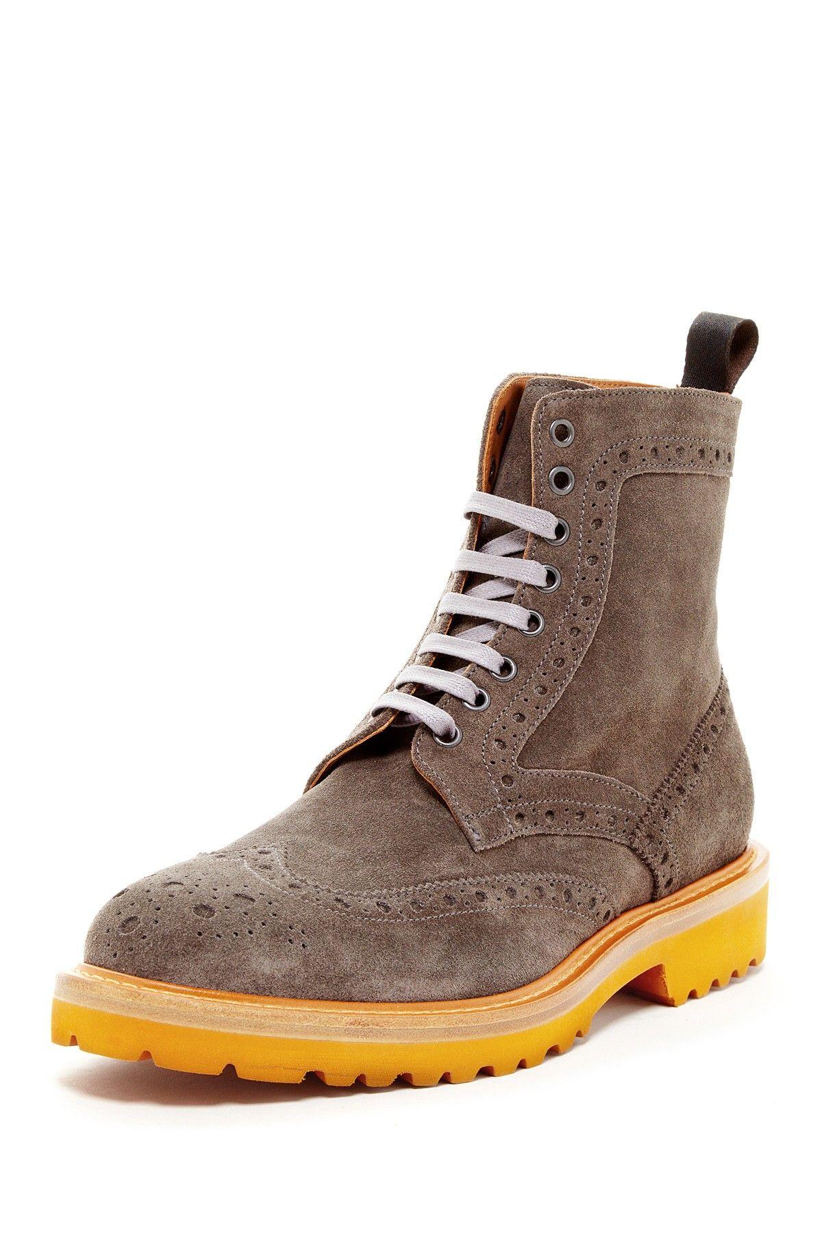 879748a7554 Thomas Dean Lug Sole Suede Wingtip Boot | Shoes - Lug Sole | Fashion ...