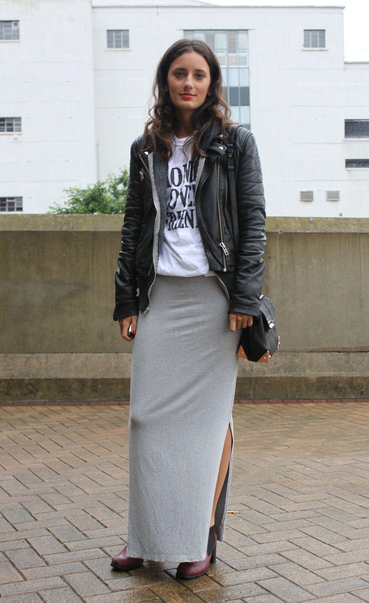 jersey-maxi-skirt-trend maxi-skirt-chic-style-stylish … | Pinteres…