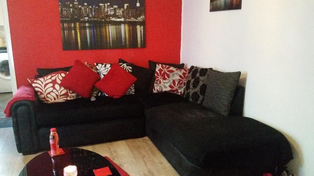 Super Black Fabric Corner Sofa Bristol Gumtree For The Home Forskolin Free Trial Chair Design Images Forskolin Free Trialorg