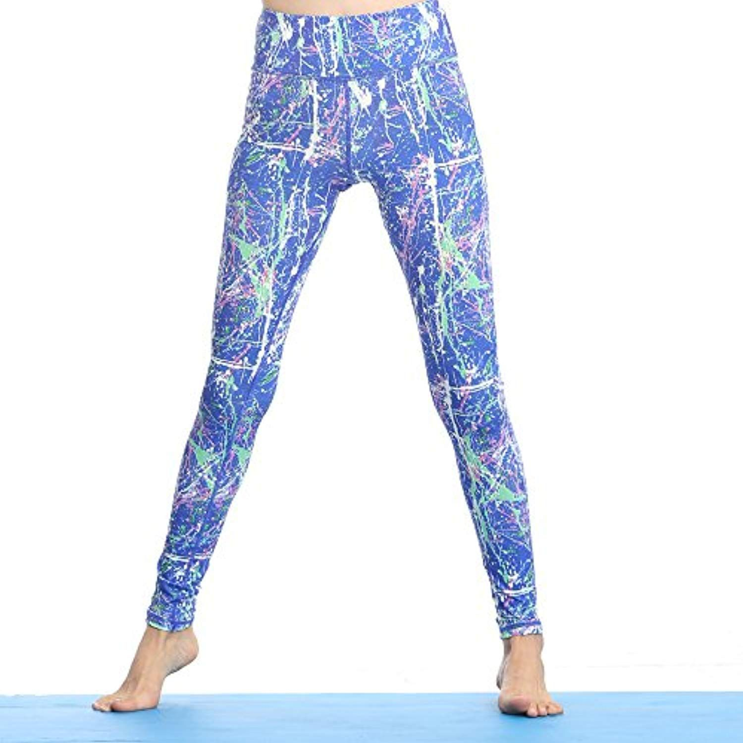 857c6a6f40 Women's Blue Print Yoga Pants Starry Sky Leggings Flexible Workout Fitness  Leggings -- Continue to the product at the image link.