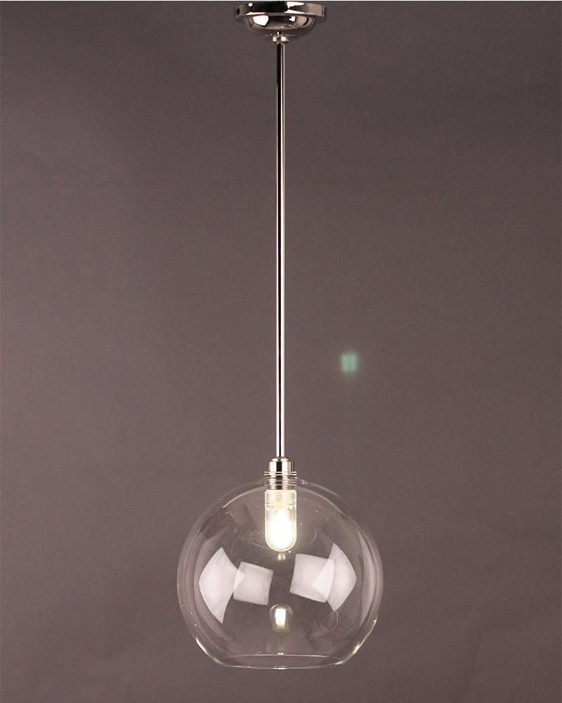 Hereford Clear Glass Globe Bathroom Pendant Light Globe Ceiling Light Ceiling Lights Bathroom Pendant