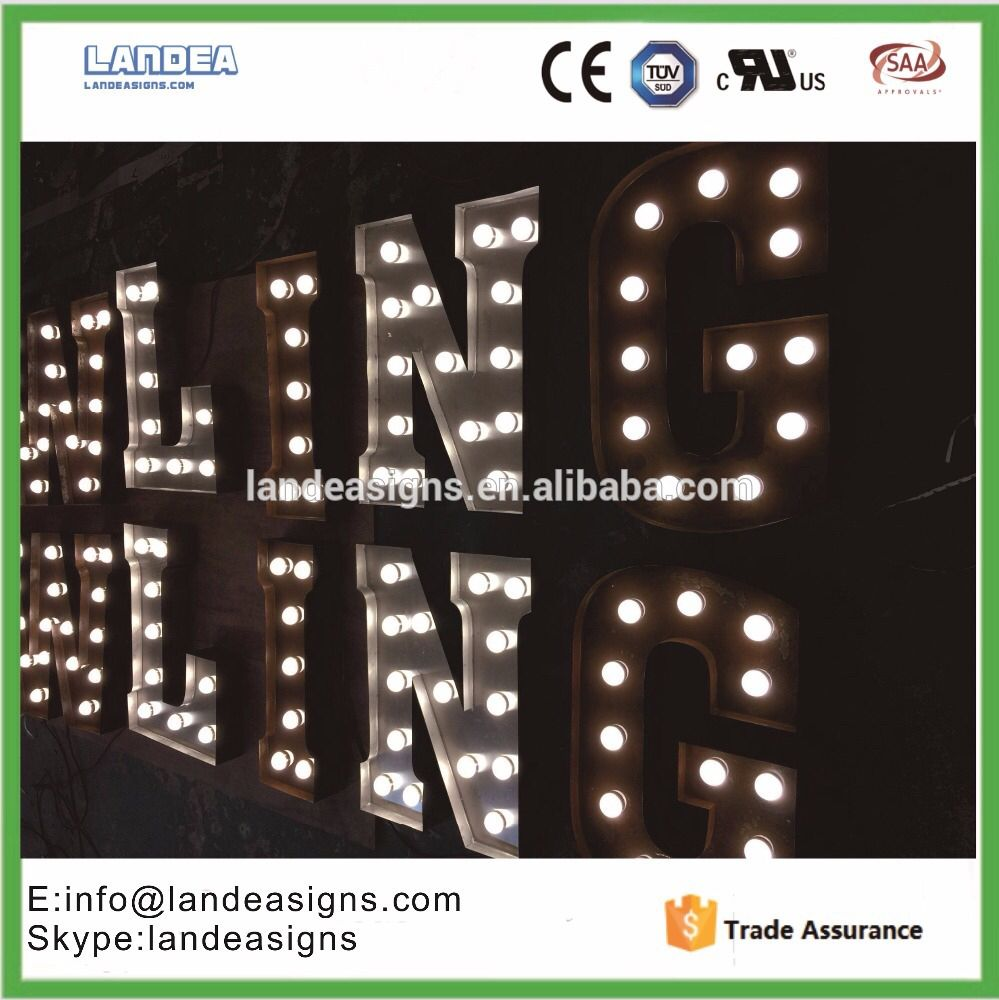 Check Out This Product On Alibaba Com App Wholesale Vintage Metal Letters Used Outdoor Lighted Signs Marquee Letters With Images Vintage Marquee Letters