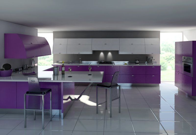 Pin by David on My Favorite Design | Pinterest | Purple kitchen ...