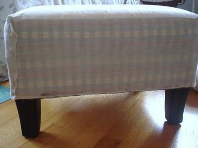 DIY burlap and ruffles ottoman  DIY Furniture