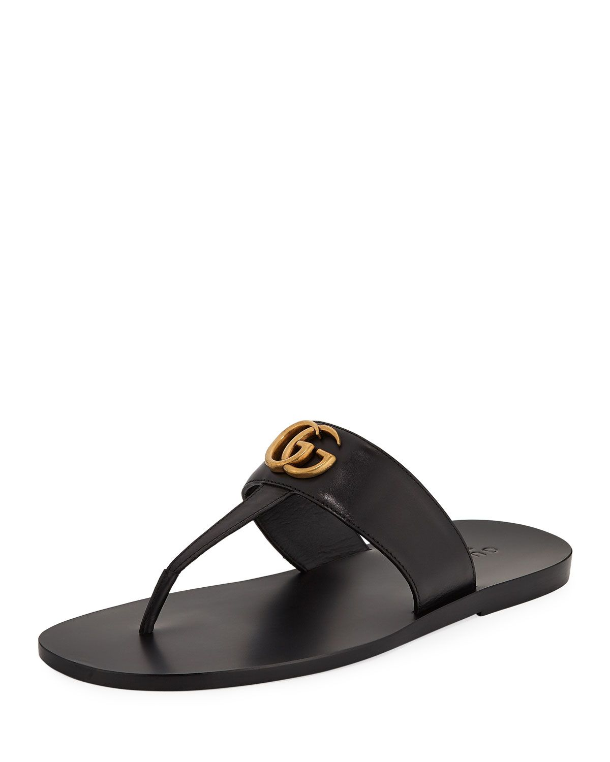 d892db403511 GUCCI MEN S GG-STUD LEATHER THONG SANDALS.  gucci  shoes