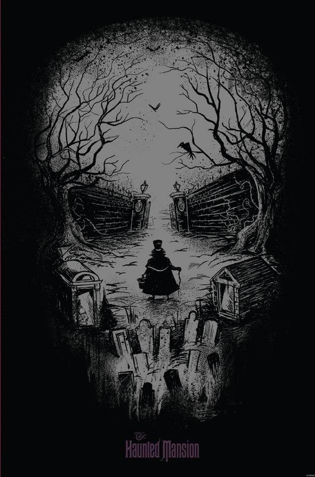 Skullposter Ddg Jpg 634 960 Skull Art Haunted Mansion Tattoo Hatbox Ghost