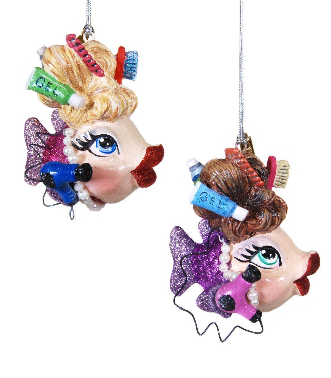 Hair stylist christmas ornaments - Katherine S Collection Kissing Fish Christmas Six Assort 3 75 Hair Stylist Kissing Fish Ornaments