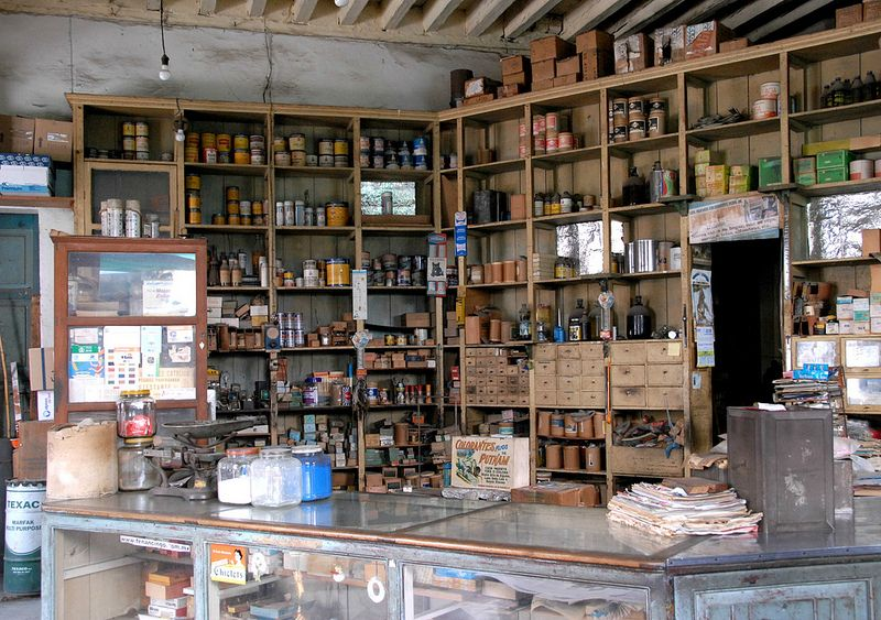 An old-fashioned store in the market area of Tenancingo, Mexico State, Mexico