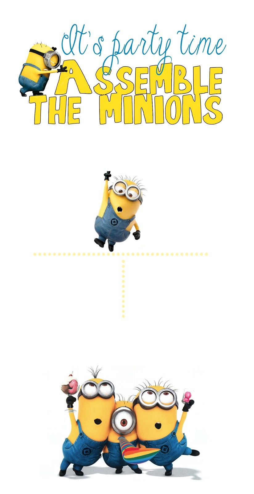 picture regarding Minions Printable Invitations identified as Do-it-yourself Structure Den: Minion birthday get together with cost-free printables