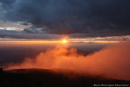 Mount Washington Observatory: Layers at Sunset  Photo by Pat Gross  August 13th