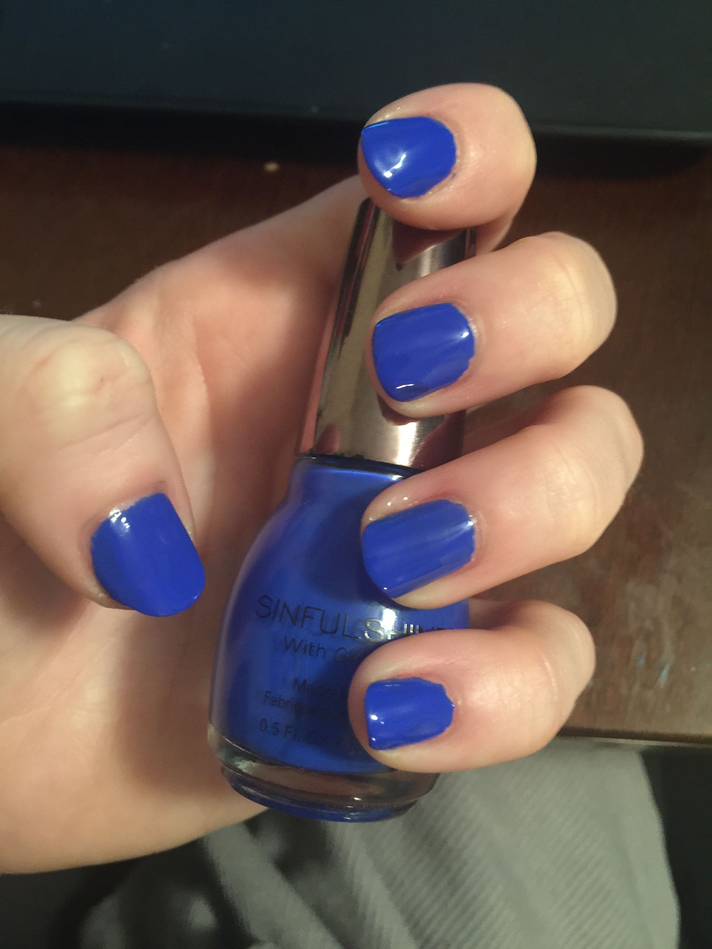 Sinful Shine Blue Nails