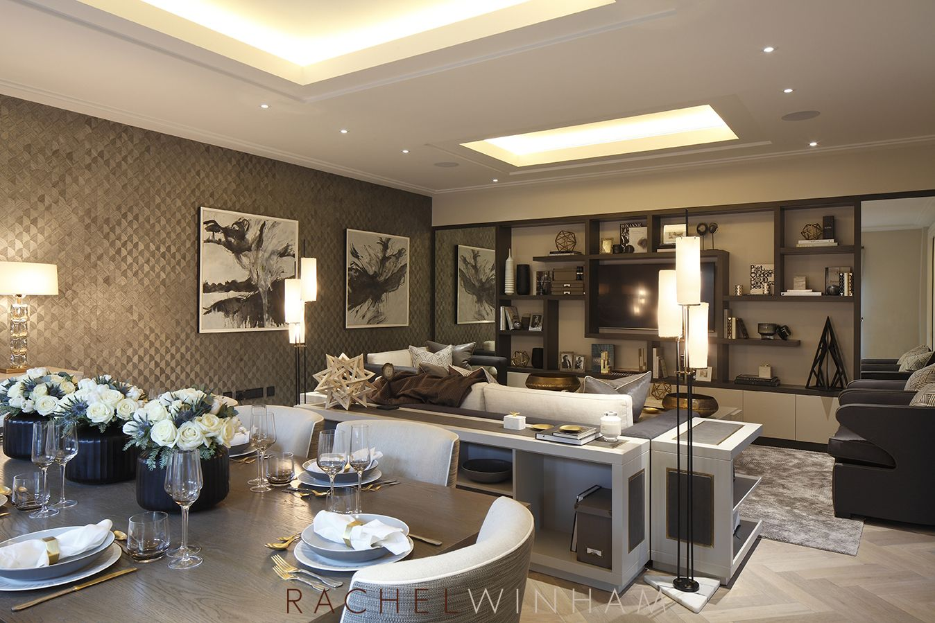 Formal reception room designed by Rachel Winham