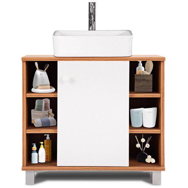 Costway Under Sink Cabinet Bathroom Spacesaver Storage Cabinet 6 Cube Vanity Organizer Walmart Com In 2020 Sink Cabinet Bathroom Storage Cabinet Bathroom Storage