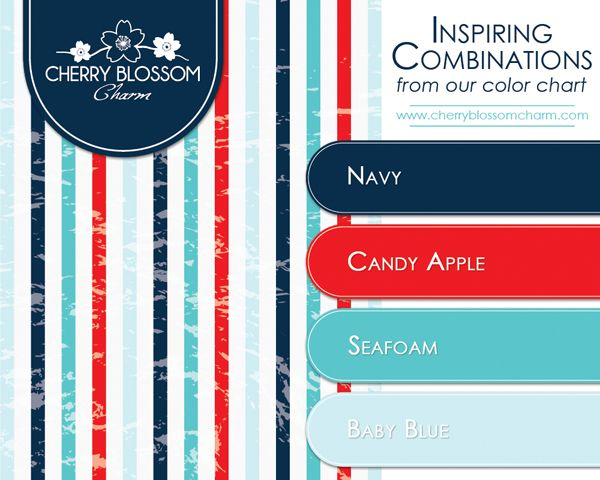 A more modern and summery combination of patriotic colors ...
