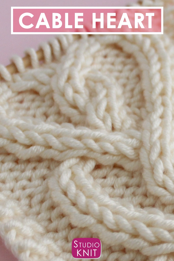 Photo of Celtic Cable Heart Stitch Knitting Pattern