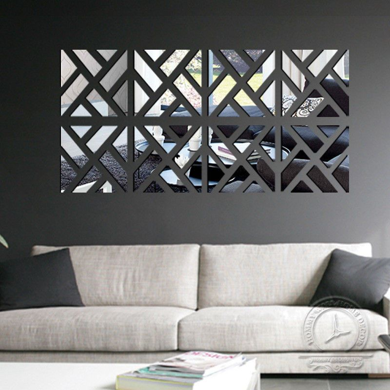3D Mirror Wall Sticker Removable DIY Art Decal Home Decoration Mural Acrylic