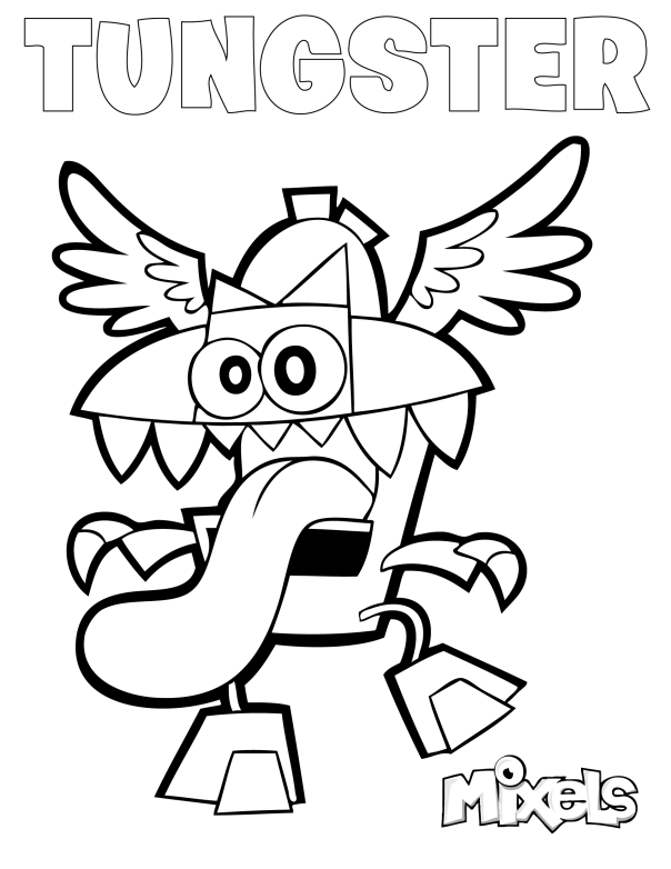 mixels coloring page jinky
