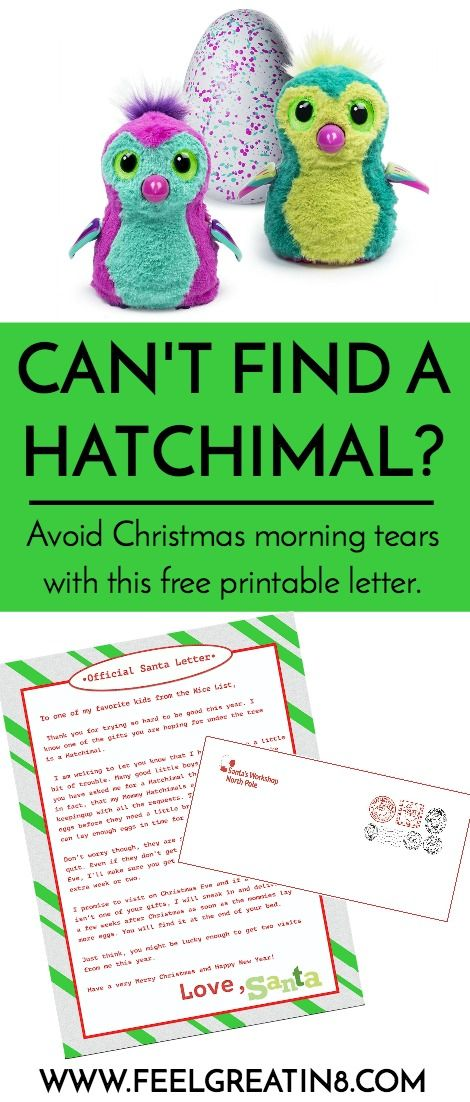 Cant find a hatchimal printable letters christmas morning and cant find a hatchimal spiritdancerdesigns