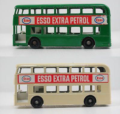 """(2) Moko Lesney Matchbox 74b """"ESSO"""" Daimler Buses - http://www.matchbox-lesney.com/27393"""