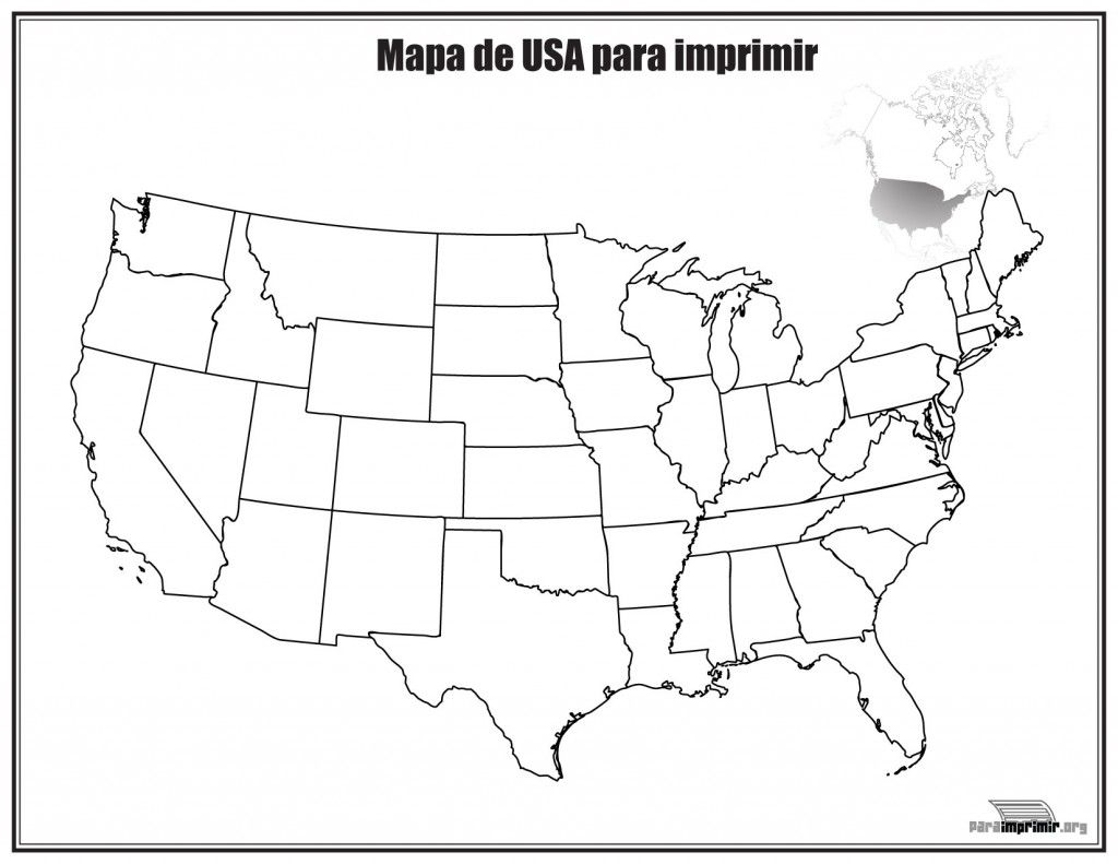 Mapa De Estados Unidos Sin Nombres Para Imprimir World Map