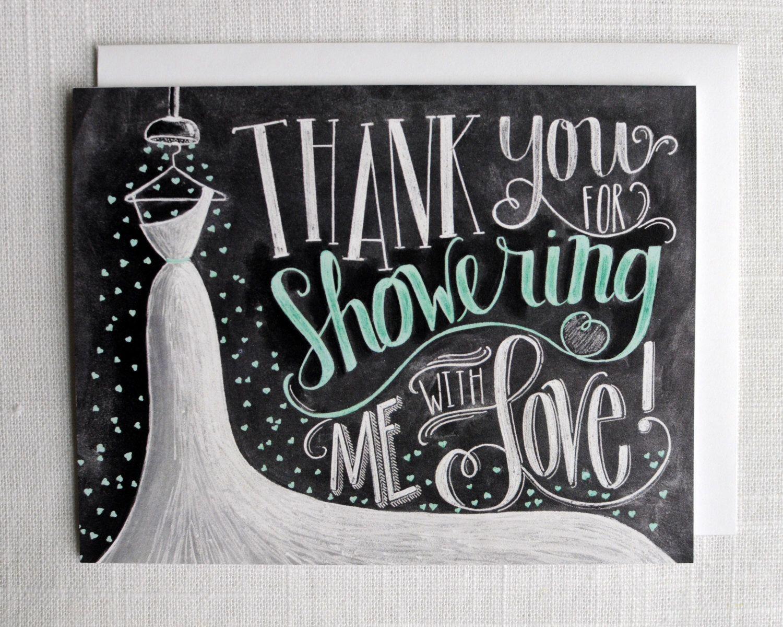 Bridal shower thank you card bridal thank you card bridal