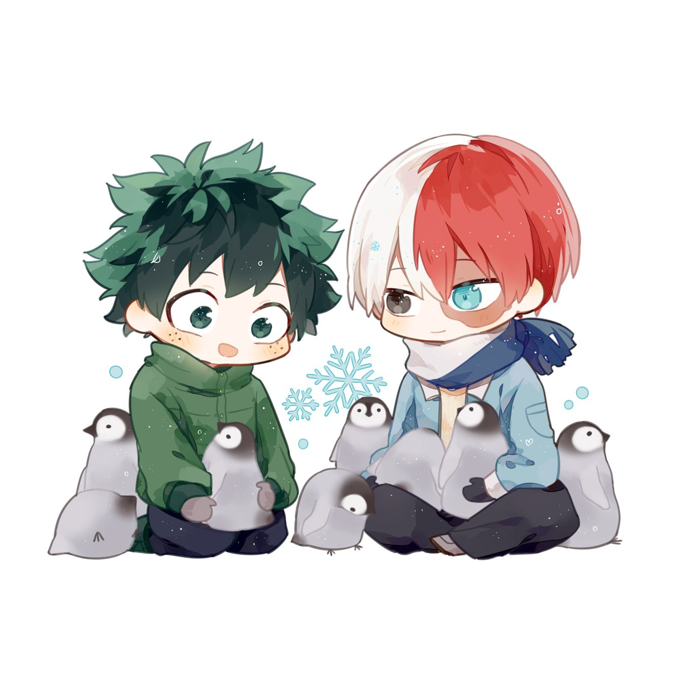 Midoriya Izuku and Todoroki Shouto My hero, Hero, Anime
