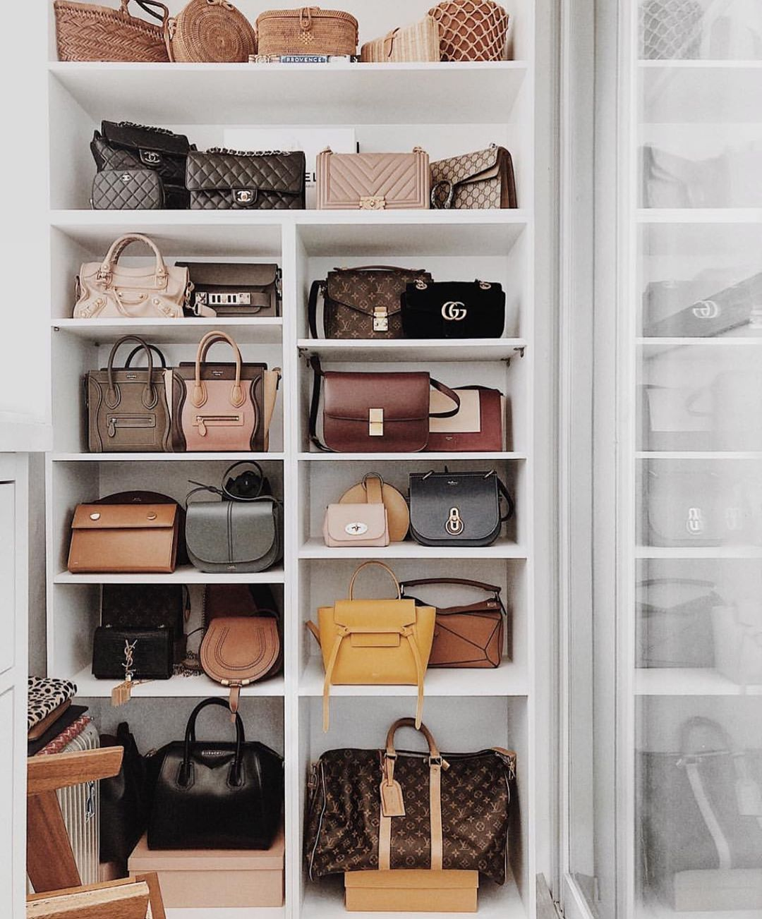 Purseblog On Instagram Serious Closet Goals Via Nyctoparis Which Bag Would You Pick If You Could Only Closet Decor Bedroom Closet Design Dream Closet Design