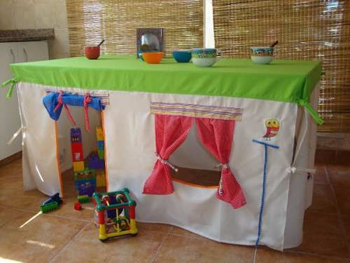 Casita De Juegos Infantil Carpa Casa Mantel Castillo Niños - $ 480 ...